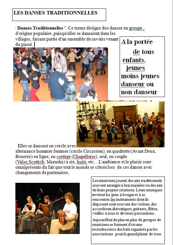 Affiche danses traditionnelles